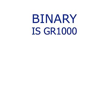 Binary Funny Unisex T Shirt by GeekStreet