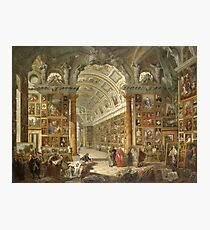 Giovanni Paolo Panini - Interior Of A Picture Gallery With The Collection Of Cardinal Silvio Valenti Gonzaga Photographic Print