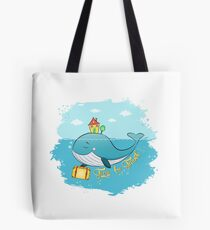 Whale. Time to travel Tote Bag