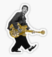 Marty Mc Fly plays Guitar   Cult Movies Sticker