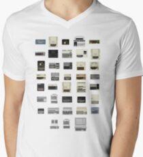 Pixel History of Home Computers Mens V-Neck T-Shirt