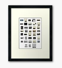 Pixel History of Home Computers Framed Print