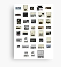 Pixel History of Home Computers Canvas Print