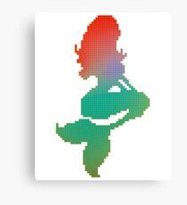 Pixel Mermaid Canvas Print