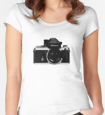 Nikon F2 Women's Fitted Scoop T-Shirt