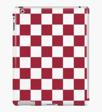 Crimson Red Checkered Pattern iPad Case/Skin