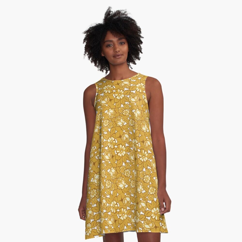 Rosenmuster... A-Linien Kleid