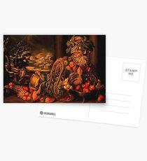 Giuseppe Arcimboldo - Autumn Seated Postcards
