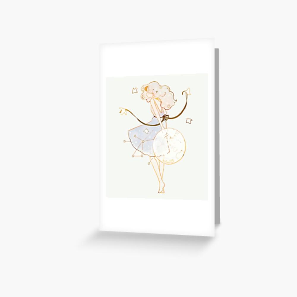 spring moon. Greeting Card