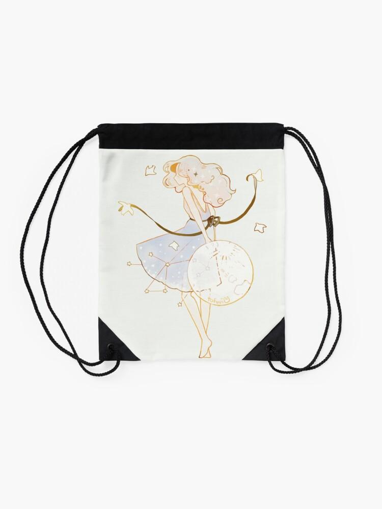 Alternate view of spring moon. Drawstring Bag