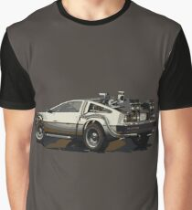 Back to the future Delorean Brown | Car | Cult Movie Graphic T-Shirt