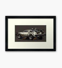 Back to the future Delorean Brown | Car | Cult Movie Framed Print