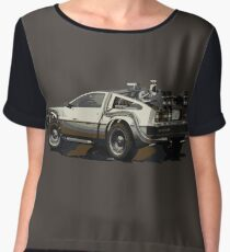 Back to the future Delorean Brown | Car | Cult Movie Chiffon Top