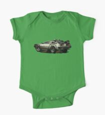 Back to the future Delorean Brown | Car | Cult Movie One Piece - Short Sleeve