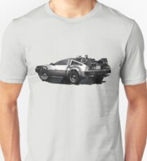 Back to the future Delorean   Cars   Cult Movies T-Shirt