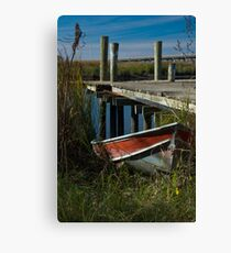 River Worker Canvas Print
