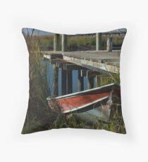 River Worker Throw Pillow