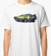 Back to the future Delorean Car | Cult Movie Classic T-Shirt