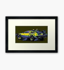 Back to the future Delorean Car | Cult Movie Framed Print