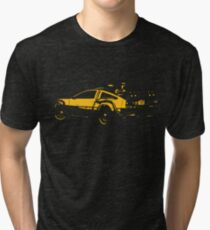 Back to the future Delorean Mustard | Cars | Cult movie Tri-blend T-Shirt