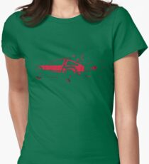 Back to the future Delorean | Car | Cult Movie Womens Fitted T-Shirt