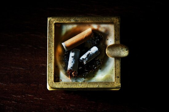 Ashtray with cigarettes stubs by Silvia Ganora