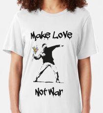 Make Love, Not War Slim Fit T-Shirt