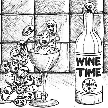 Wine Time by ElizabethArte