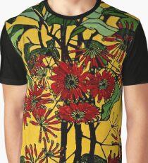 "Margaret Preston Australian Woodcut ""Wheel Flower"" Graphic T-Shirt"