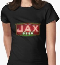 Jax Beer Neon Sign - Vintage New Orleans Classic Womens Fitted T-Shirt