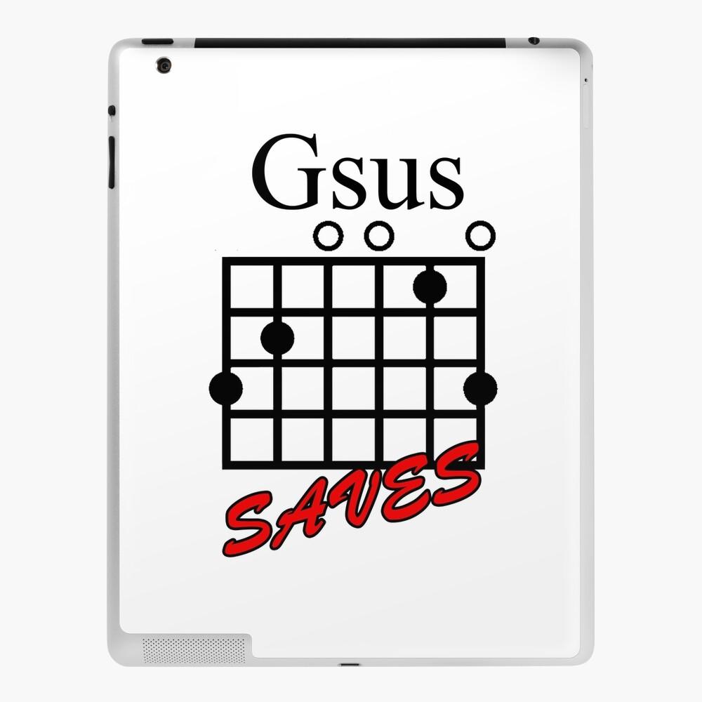 Jesus Saves Gsus Saves acorde de guitarra   Funda y vinilo para iPad