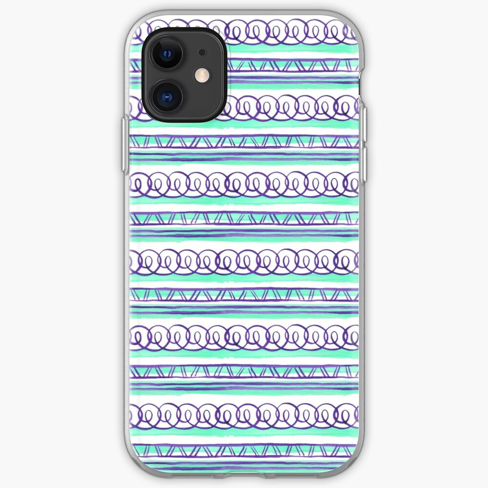 @@@ -- Violet & Sea Foam iPhone Case & Cover