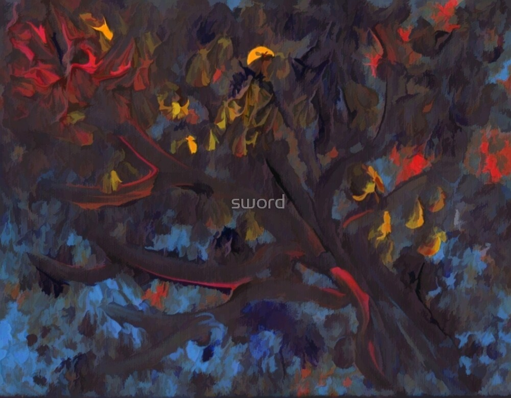 Abstract trees by sword