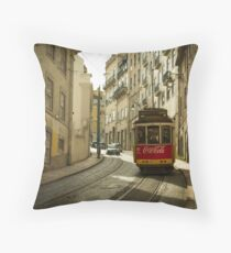 Cola Tram  Throw Pillow