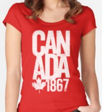 Canada 1867 Women's Fitted Scoop T-Shirt