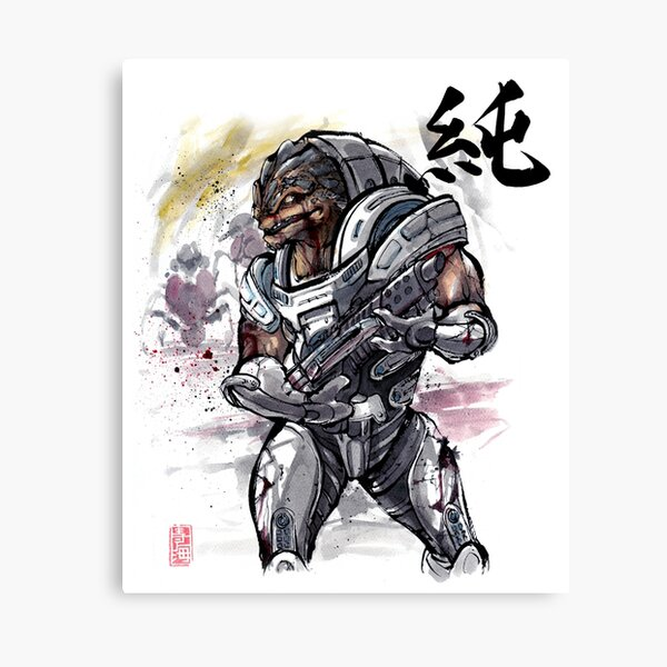 Grunt from Mass Effect Sumie Style Canvas Print