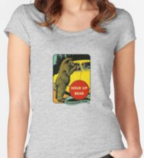 Hold Up Bear Yellowstone National Park Women's Fitted Scoop T-Shirt