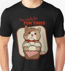 Ready for Fun Times Picnic Basket Cat Unisex T-Shirt