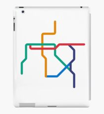 Mini Metros - Santiago, Chile iPad Case/Skin