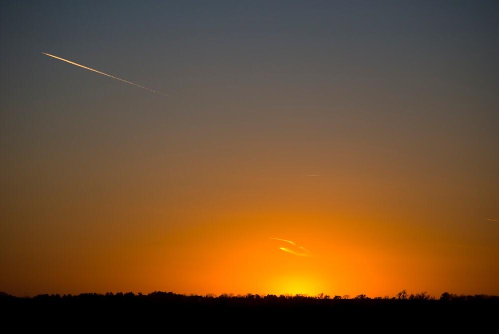 Orange Sunset by Ian Moreland