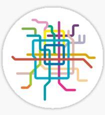 Mini Metros - Beijing, China Sticker