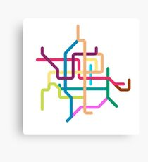 Mini Metros - Guangzhou, China Canvas Print