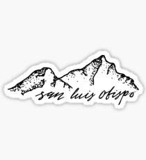 San Luis Obispo Hills Sticker Sticker
