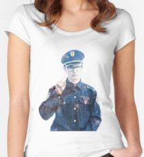 iDubbbz | Content Cop SPACE (large) Women's Fitted Scoop T-Shirt