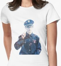 iDubbbz | Content Cop SPACE (large) Womens Fitted T-Shirt