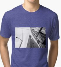 pyramid building and modern building in black and white at San Francisco, USA Tri-blend T-Shirt