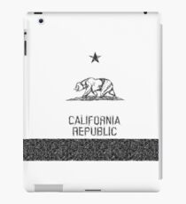 Black & White Sketch California Flag iPad Case/Skin