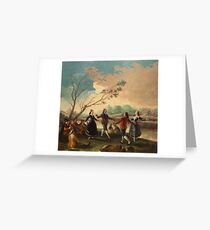 Francisco De Goya Y Lucientes - Dance On The Banks Of The Manzanares Greeting Card