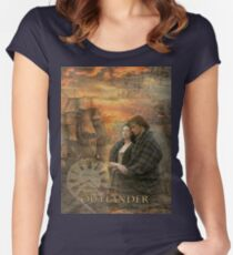 Outlander collage Women's Fitted Scoop T-Shirt