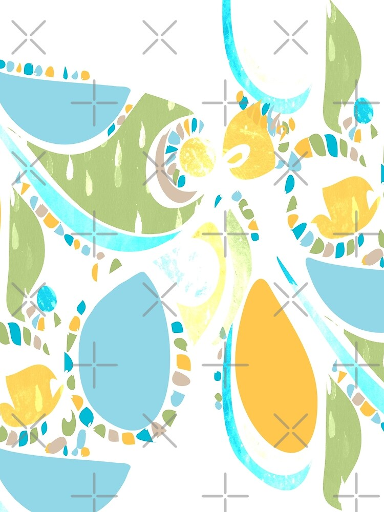 Tropical Bird Abstract Pattern  by whya